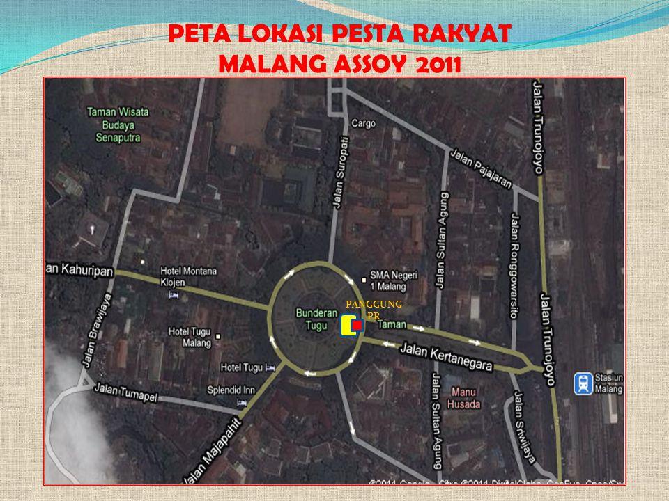 PETA LOKASI PESTA RAKYAT MALANG ASSOY 2011