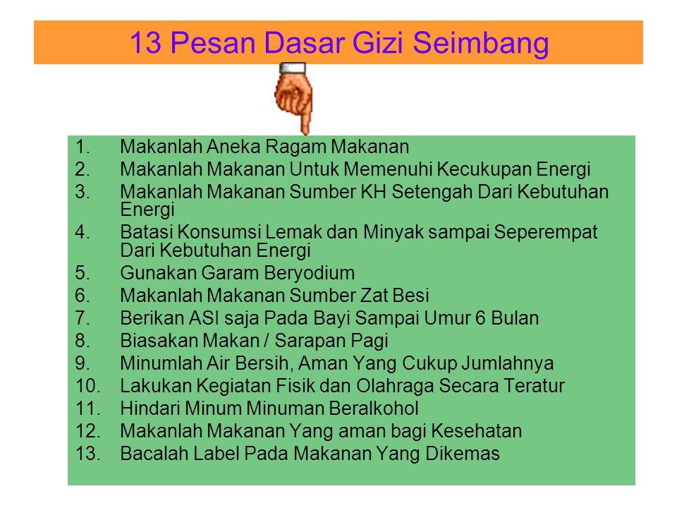 13 Pesan Dasar Gizi Seimbang