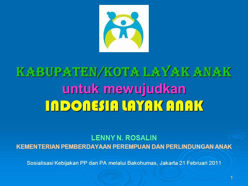 KABUPATEN/KOTA LAYAK ANAK untuk mewujudkan INDONESIA LAYAK ANAK