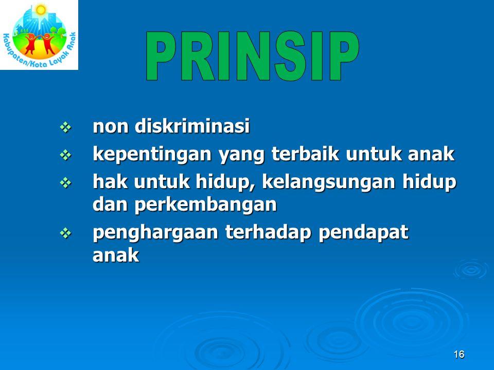 PRINSIP non diskriminasi kepentingan yang terbaik untuk anak