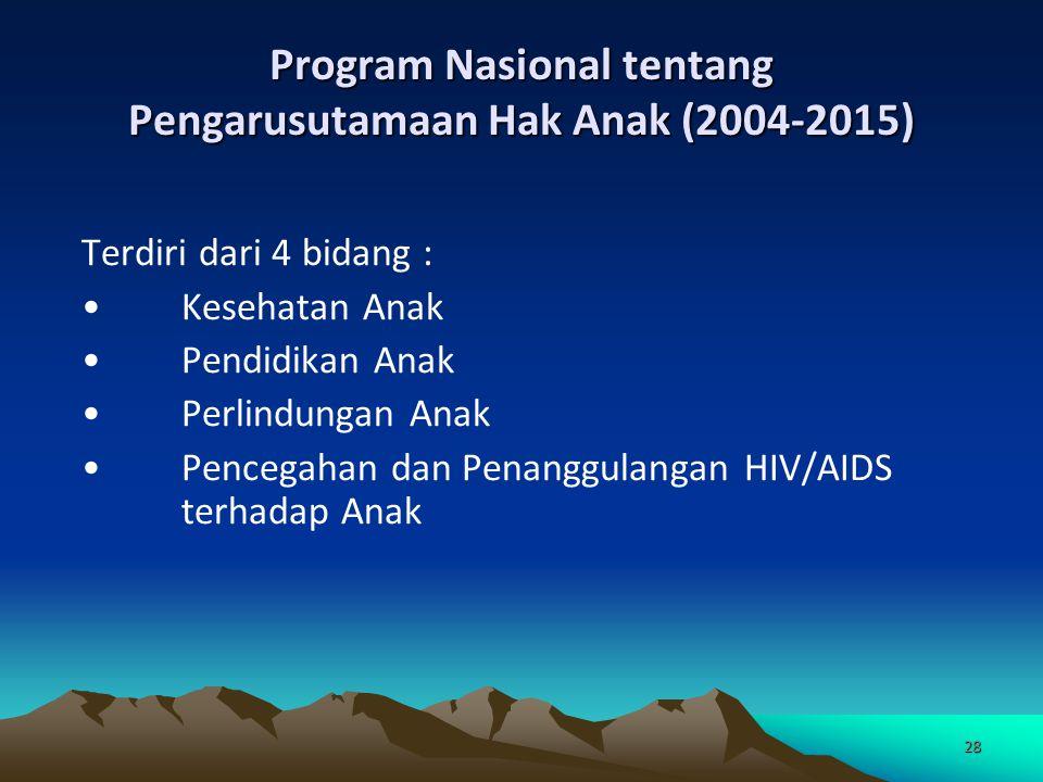 Program Nasional tentang Pengarusutamaan Hak Anak (2004-2015)