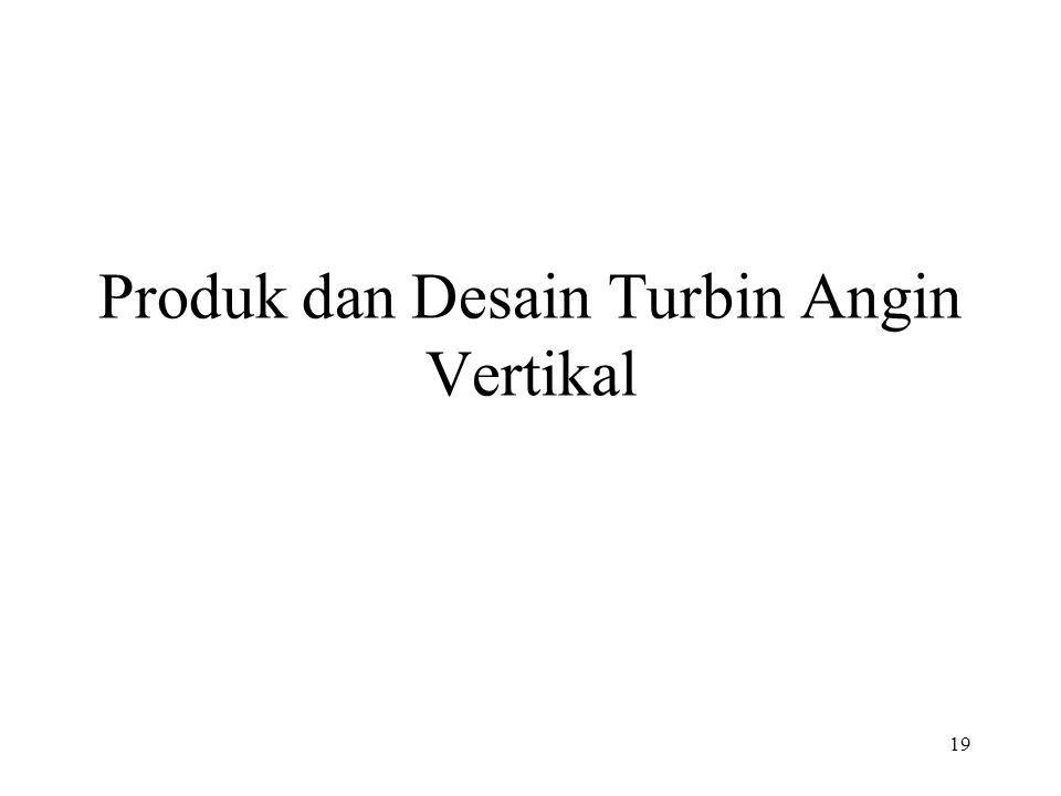 Produk dan Desain Turbin Angin Vertikal