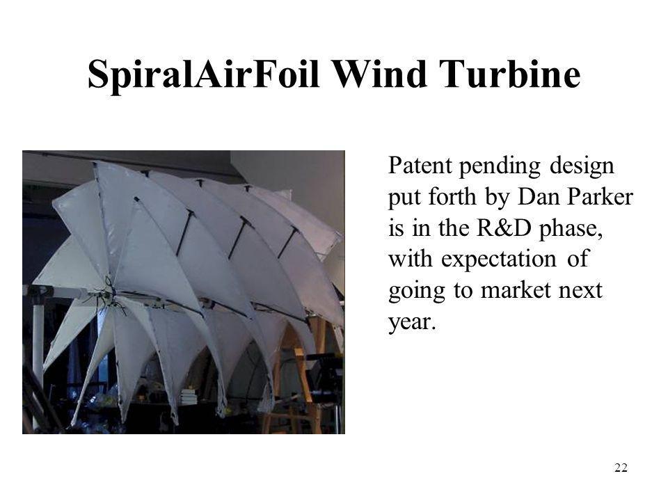 SpiralAirFoil Wind Turbine