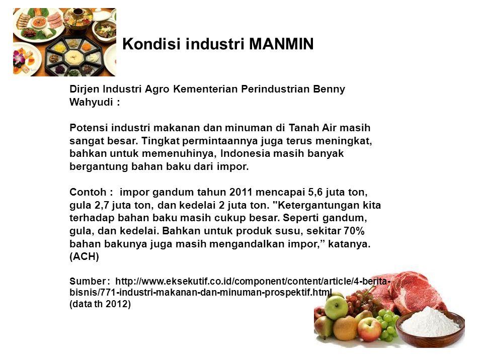 Kondisi industri MANMIN