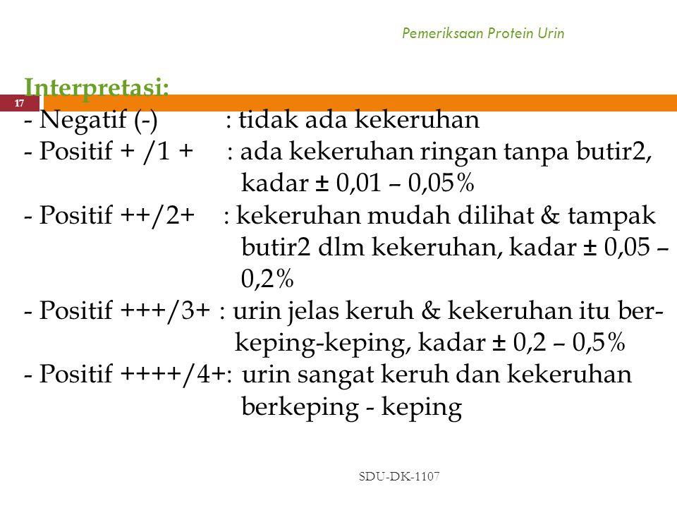 Pemeriksaan Protein Urin