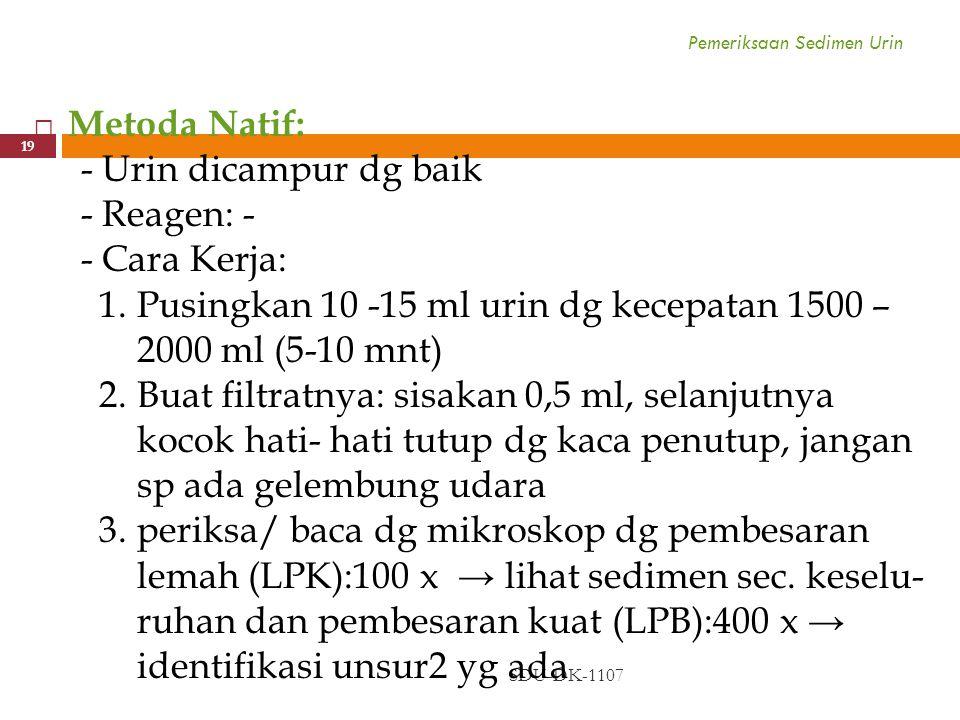 Pemeriksaan Sedimen Urin