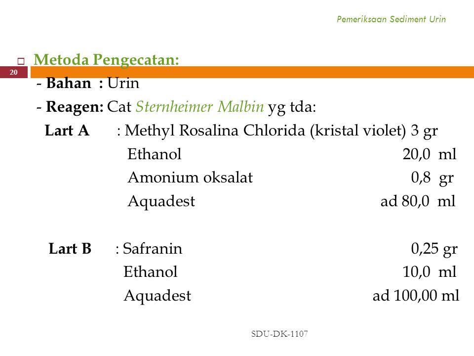 Pemeriksaan Sediment Urin