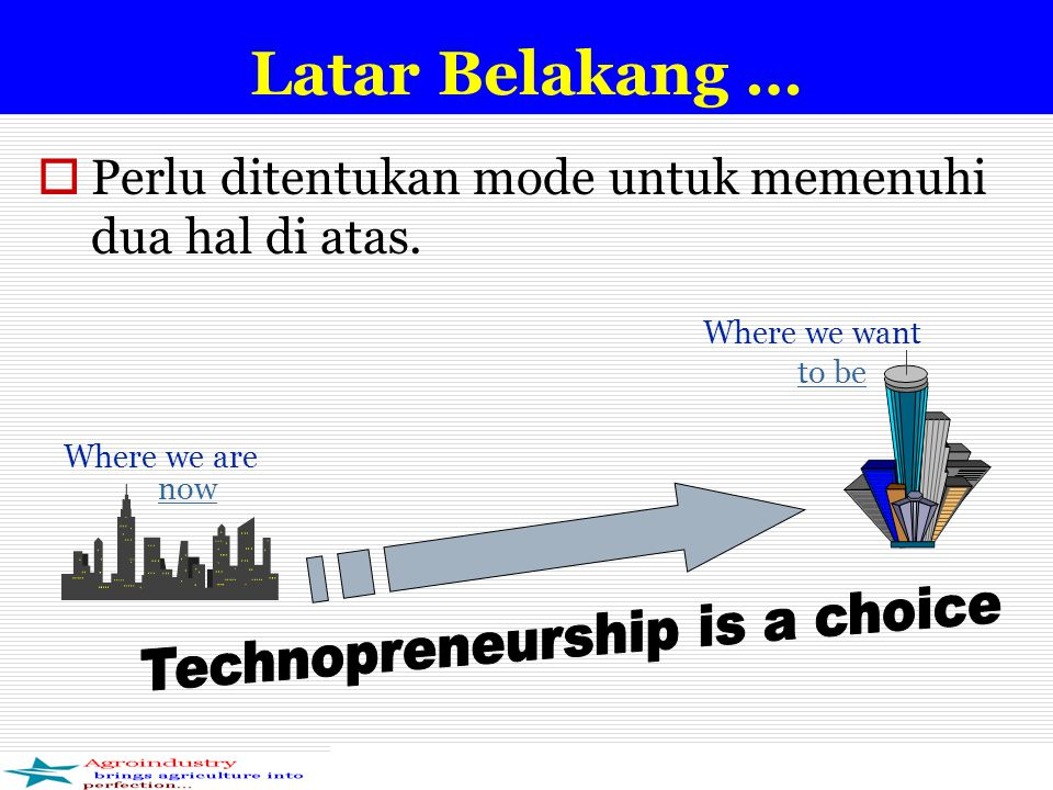 Technopreneurship is a choice