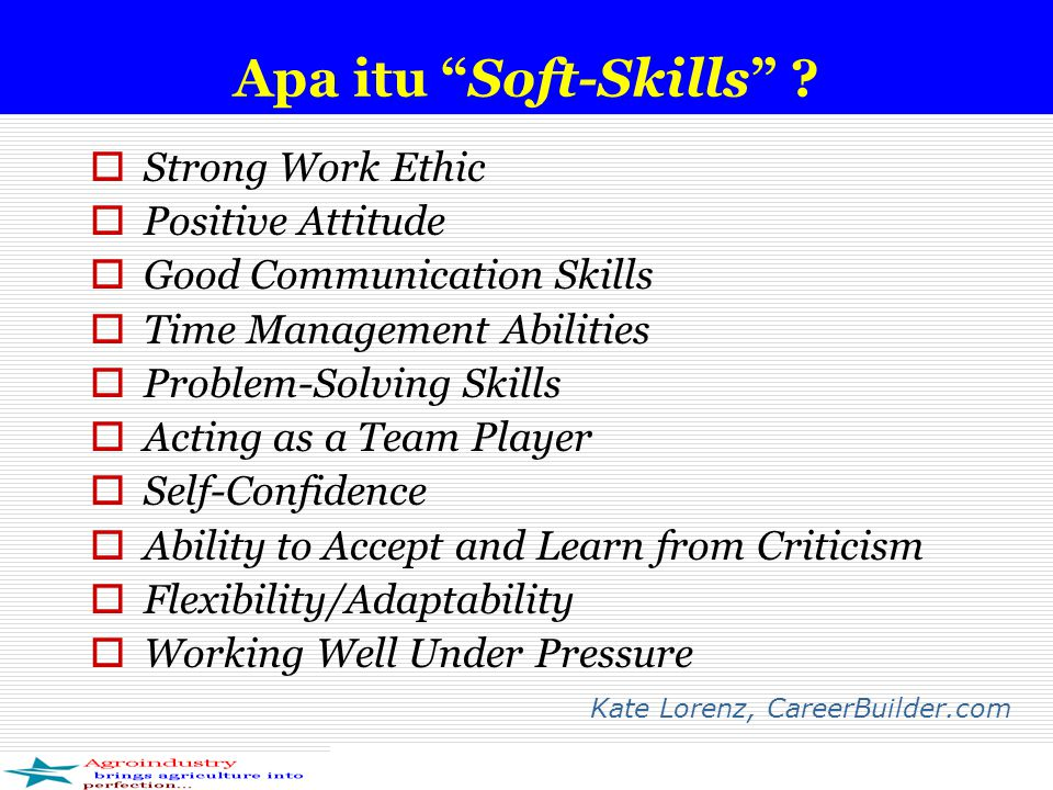 Apa itu Soft-Skills Strong Work Ethic Positive Attitude