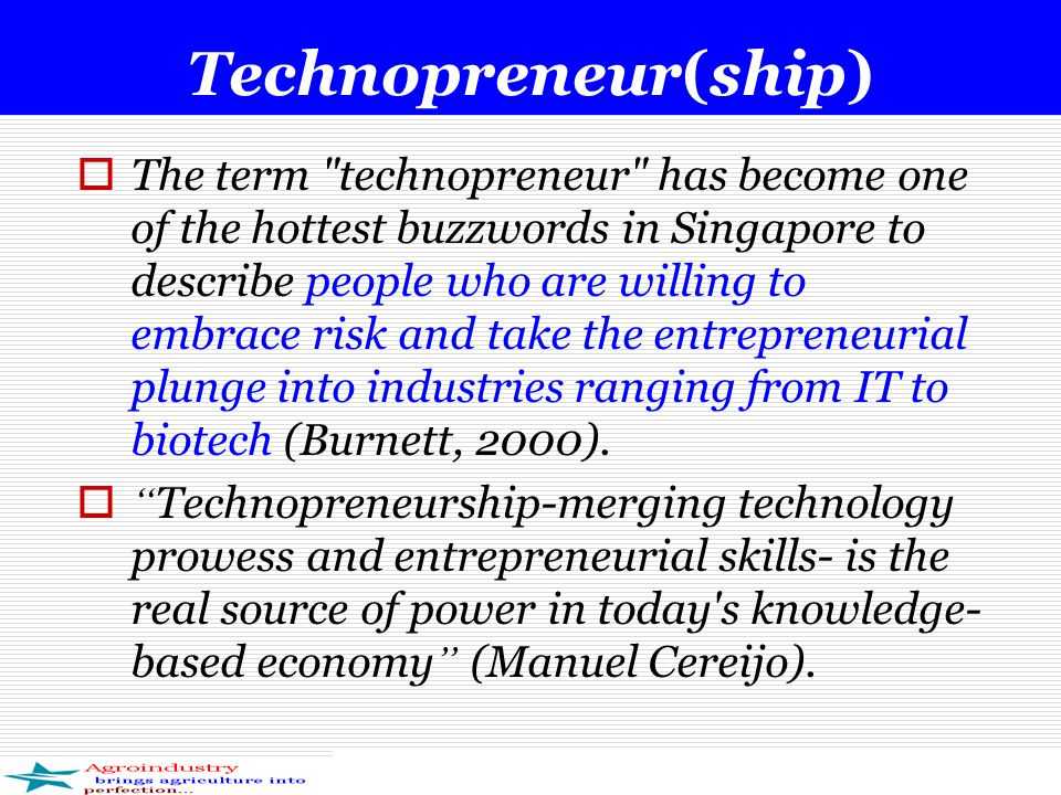 Technopreneur(ship)