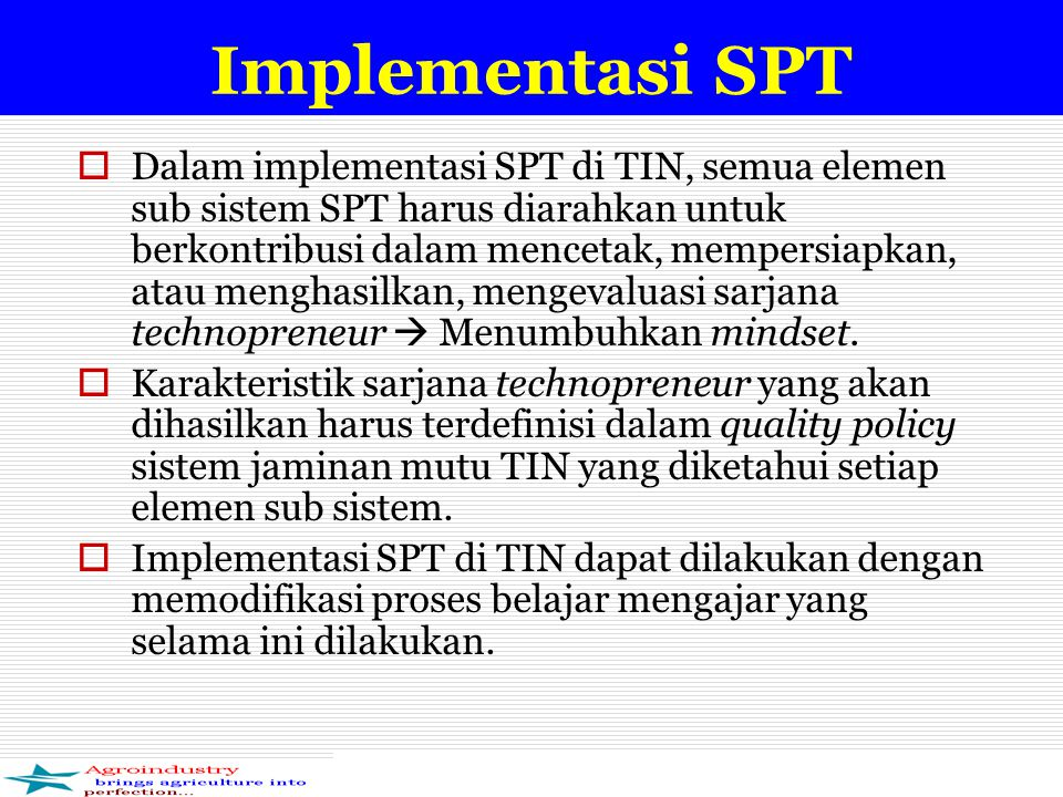 Implementasi SPT
