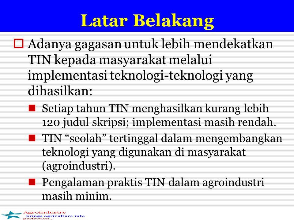 Latar Belakang Adanya gagasan untuk lebih mendekatkan TIN kepada masyarakat melalui implementasi teknologi-teknologi yang dihasilkan: