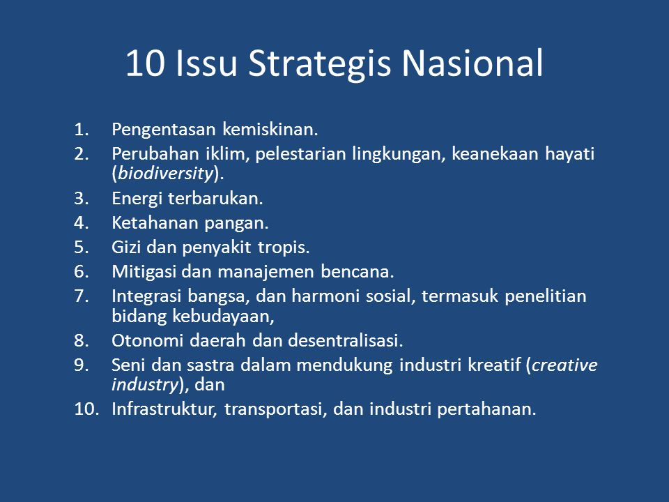 10 Issu Strategis Nasional
