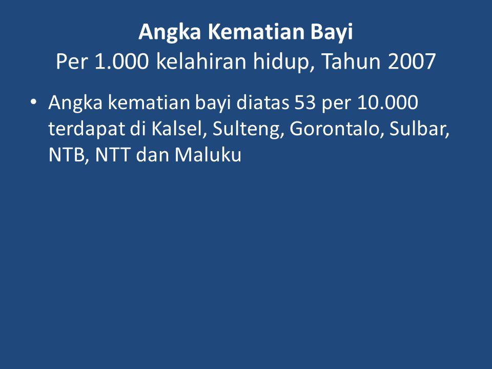 Angka Kematian Bayi Per 1.000 kelahiran hidup, Tahun 2007