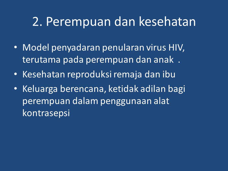 2. Perempuan dan kesehatan