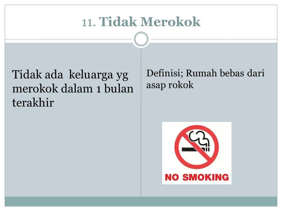 11. Tidak Merokok Tidak ada keluarga yg merokok dalam 1 bulan terakhir