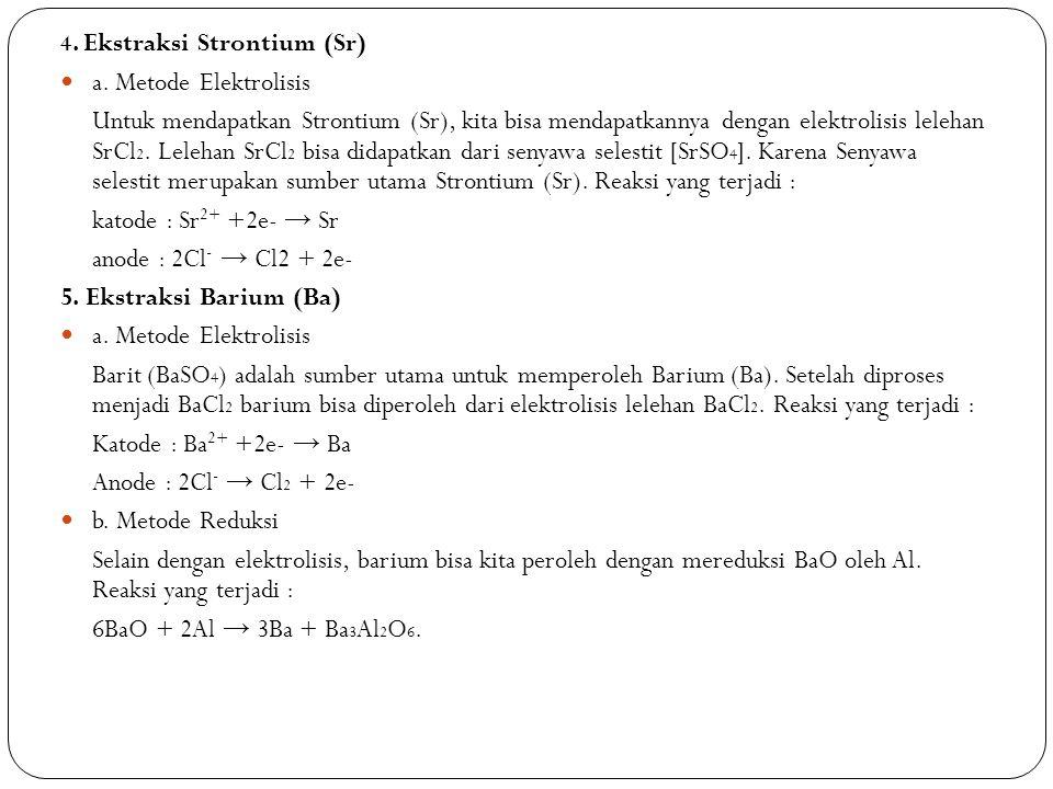 4. Ekstraksi Strontium (Sr)