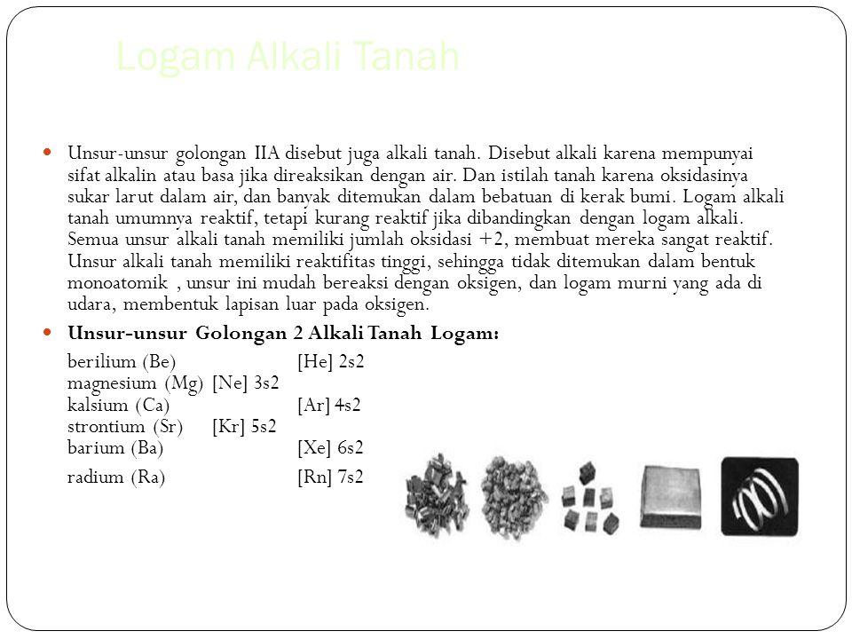 Logam Alkali Tanah