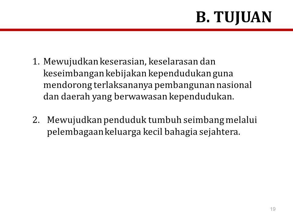 B. TUJUAN