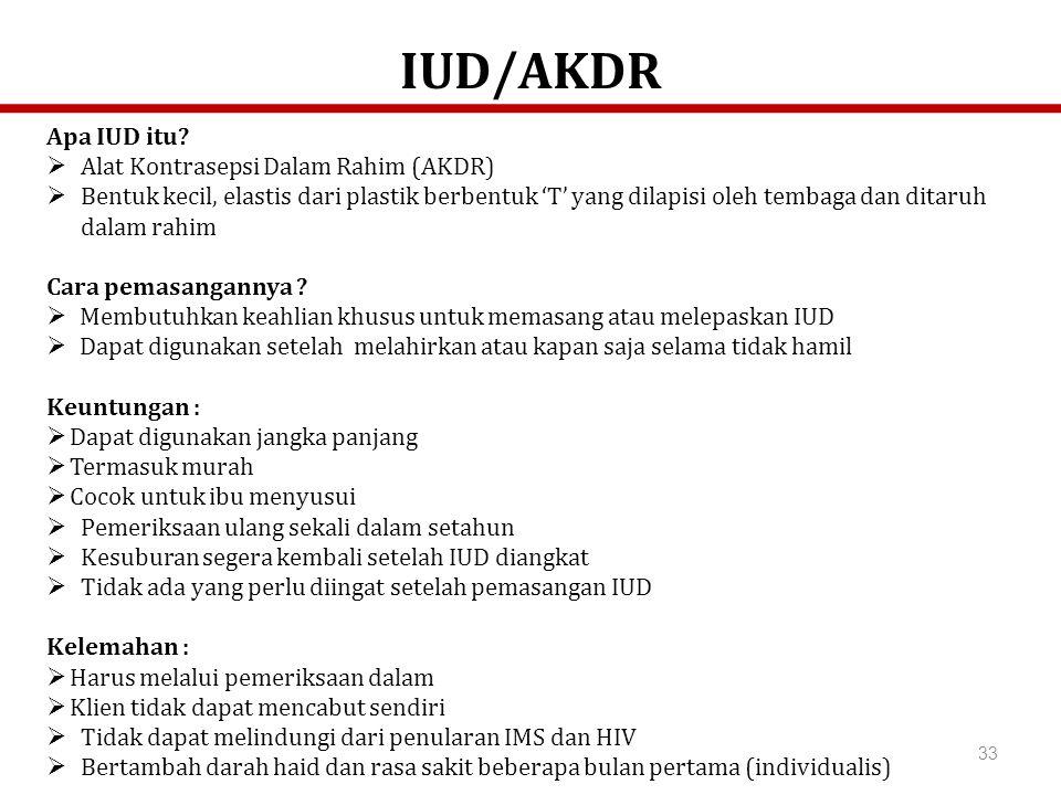 IUD/AKDR Apa IUD itu Alat Kontrasepsi Dalam Rahim (AKDR)