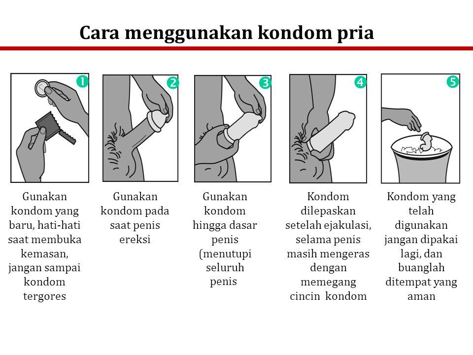Cara menggunakan kondom pria