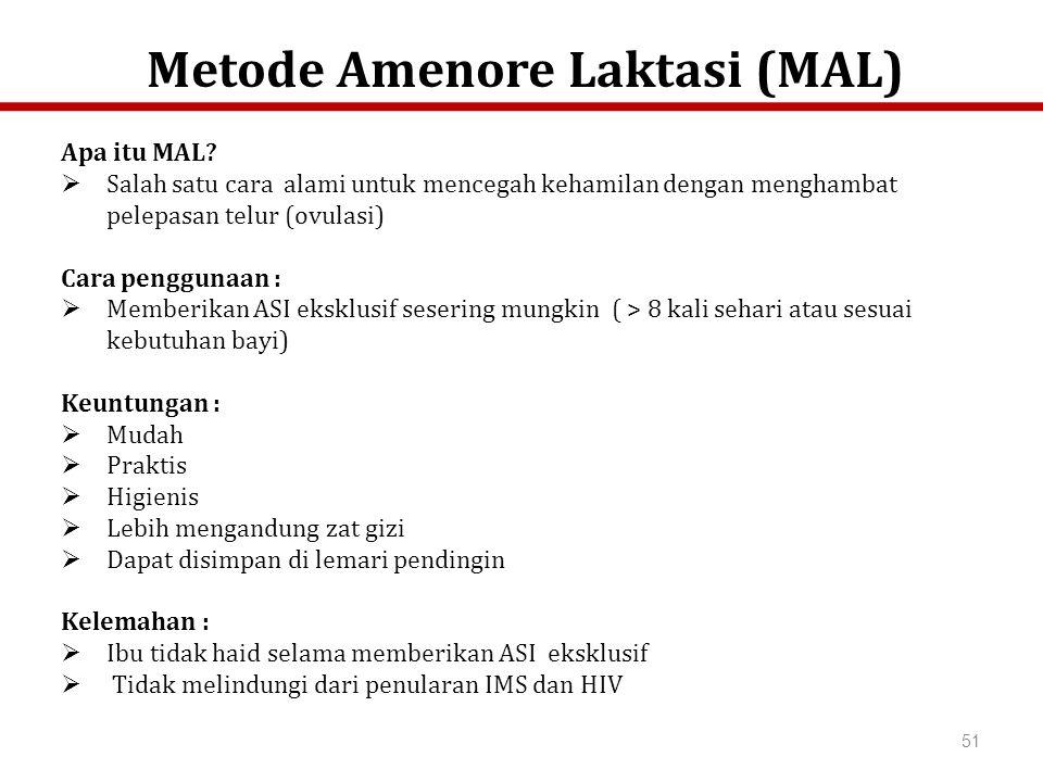 Metode Amenore Laktasi (MAL)