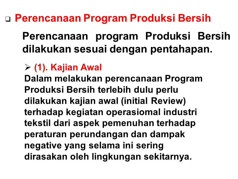 Perencanaan Program Produksi Bersih