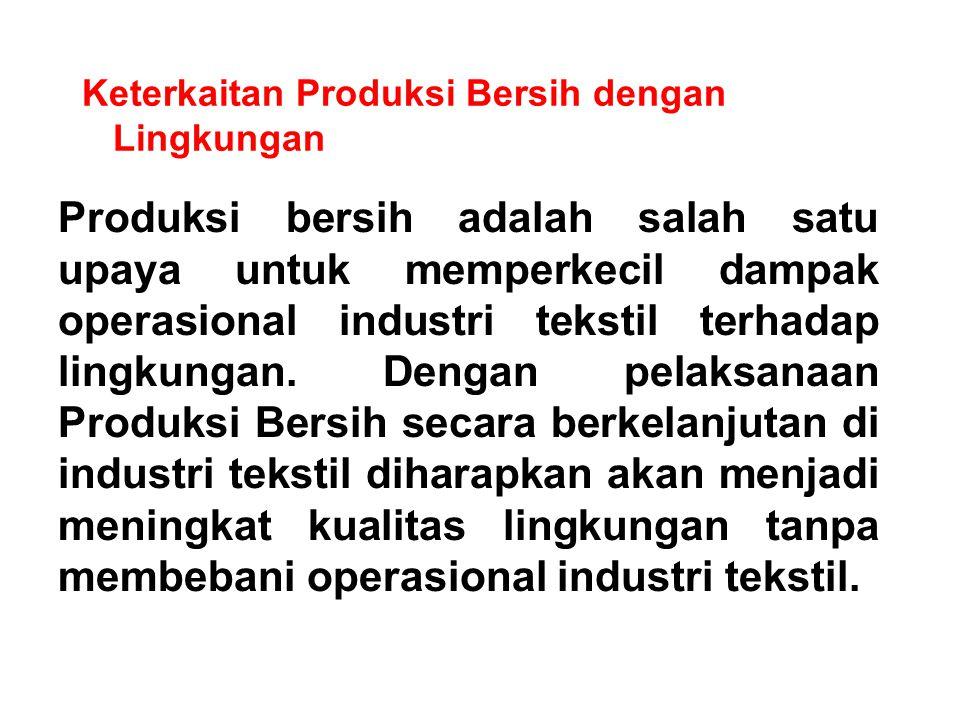 Keterkaitan Produksi Bersih dengan