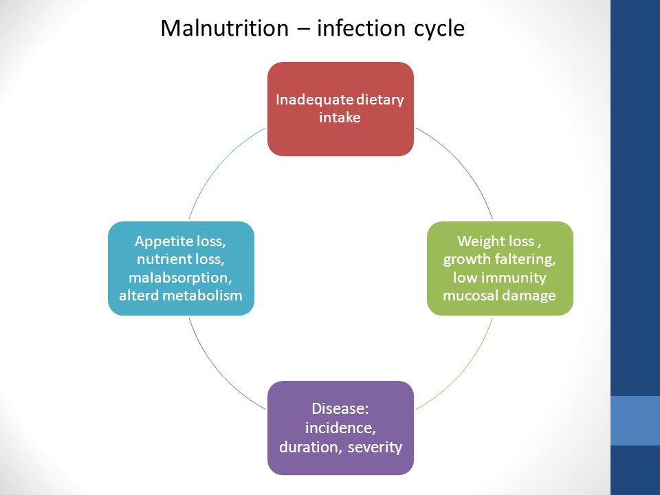 Malnutrition – infection cycle
