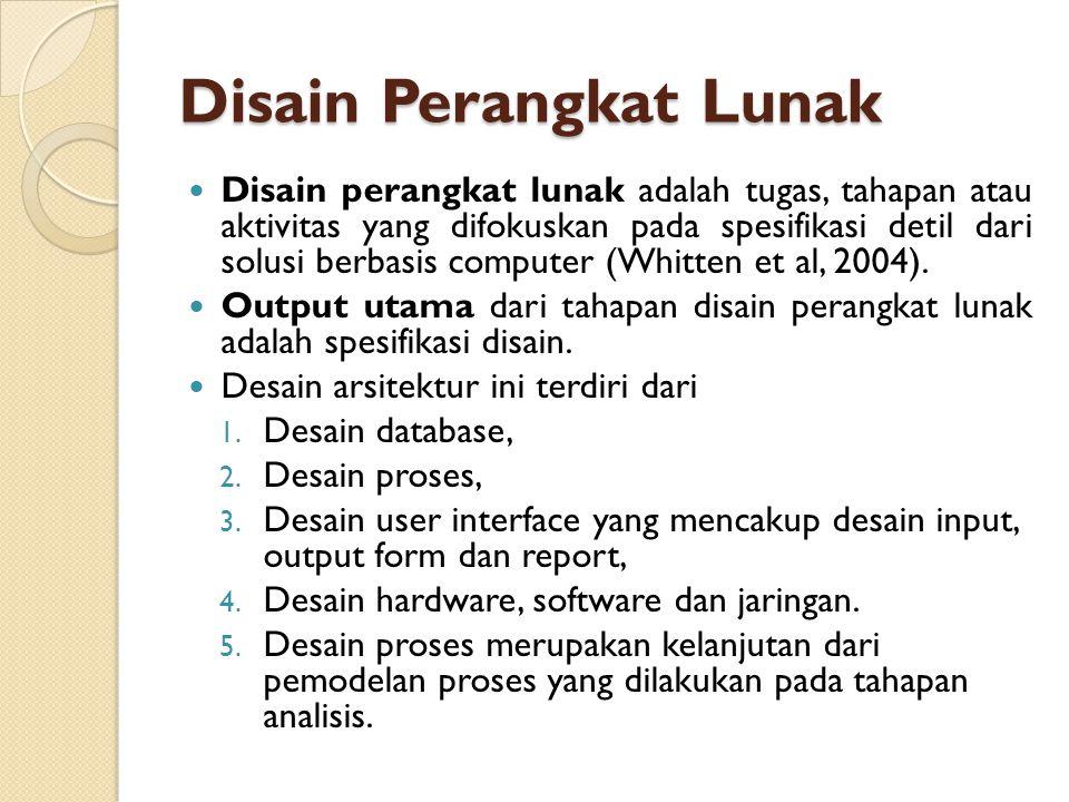 Disain Perangkat Lunak