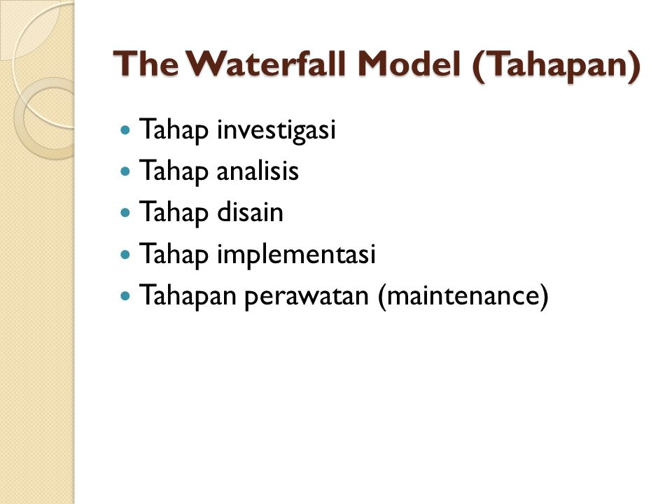 The Waterfall Model (Tahapan)