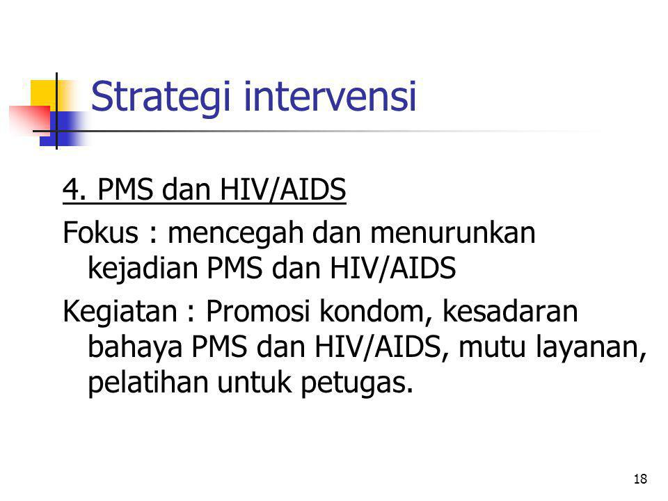 Strategi intervensi 4. PMS dan HIV/AIDS