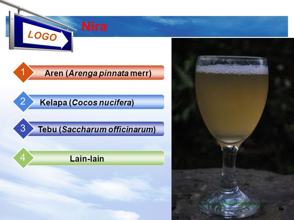 Nira 1 2 3 4 Aren (Arenga pinnata merr) Kelapa (Cocos nucifera)