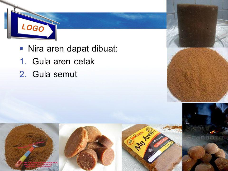 Nira aren dapat dibuat: Gula aren cetak Gula semut