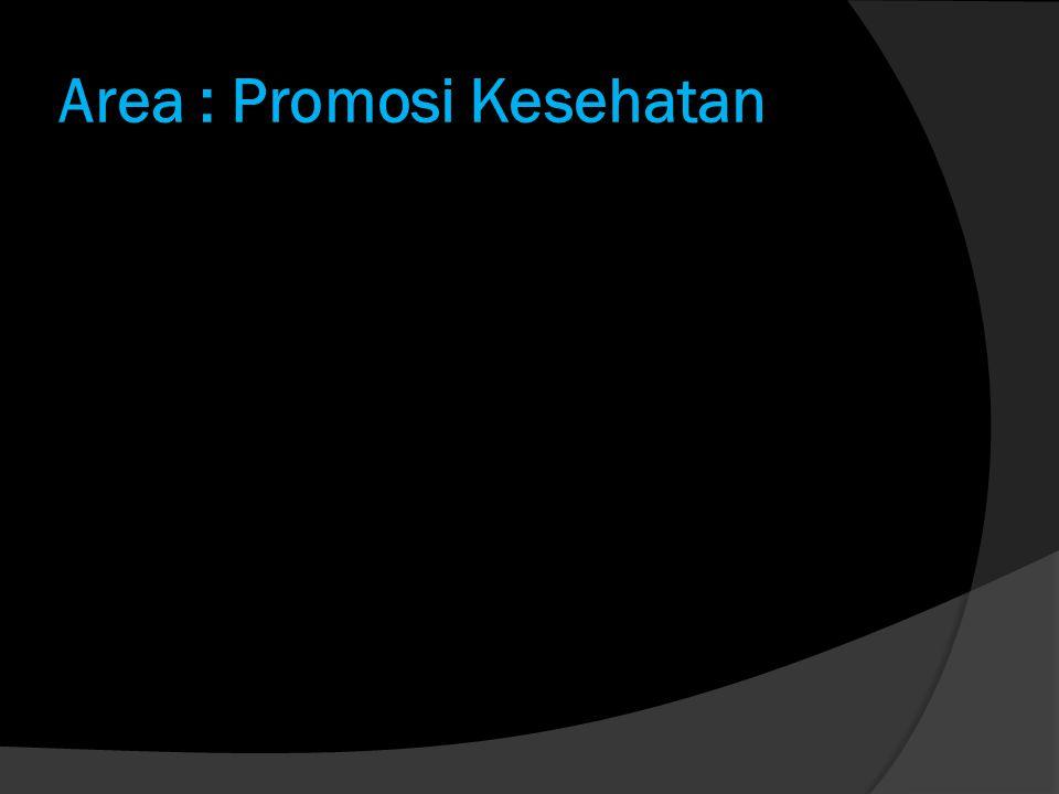 Area : Promosi Kesehatan