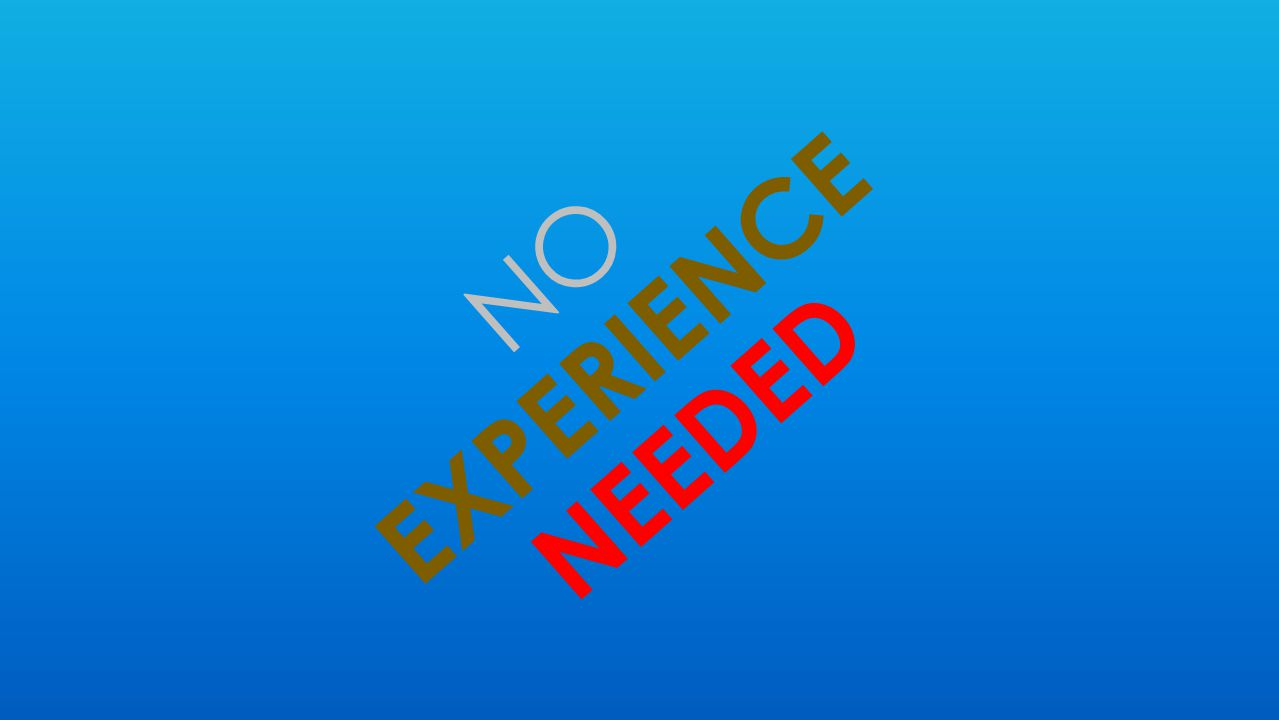 EXPERIENCE NEEDED NO