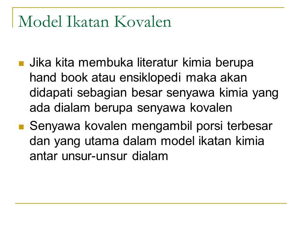 Model Ikatan Kovalen