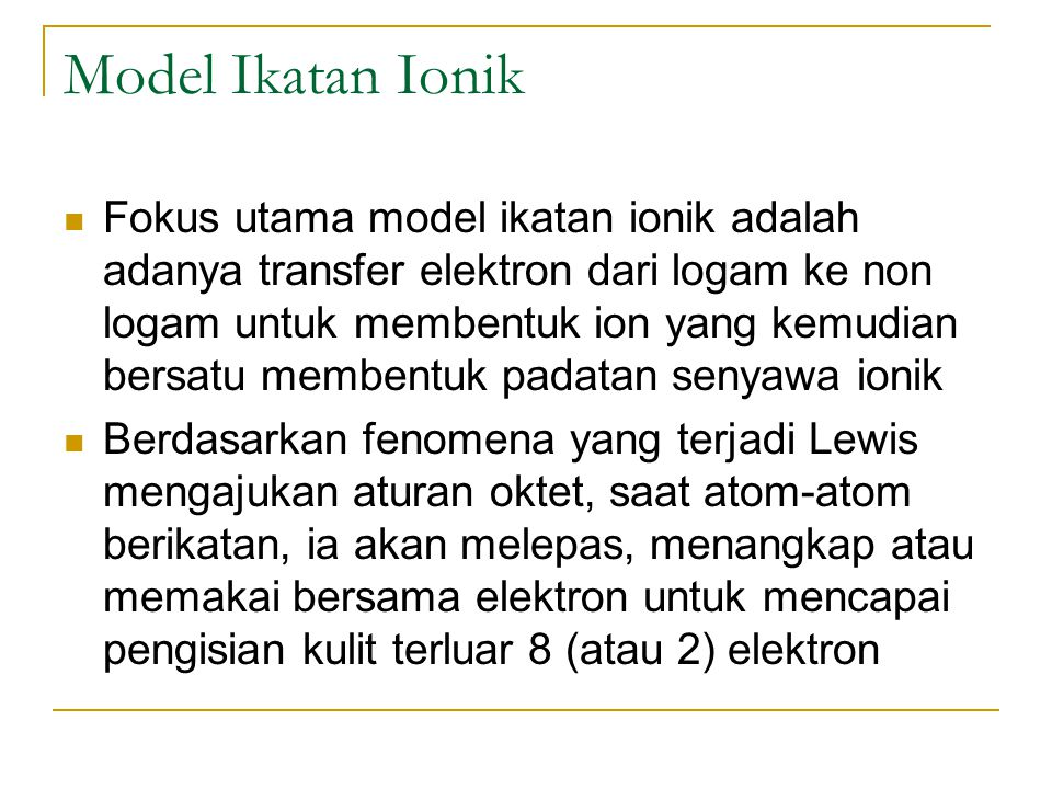 Model Ikatan Ionik