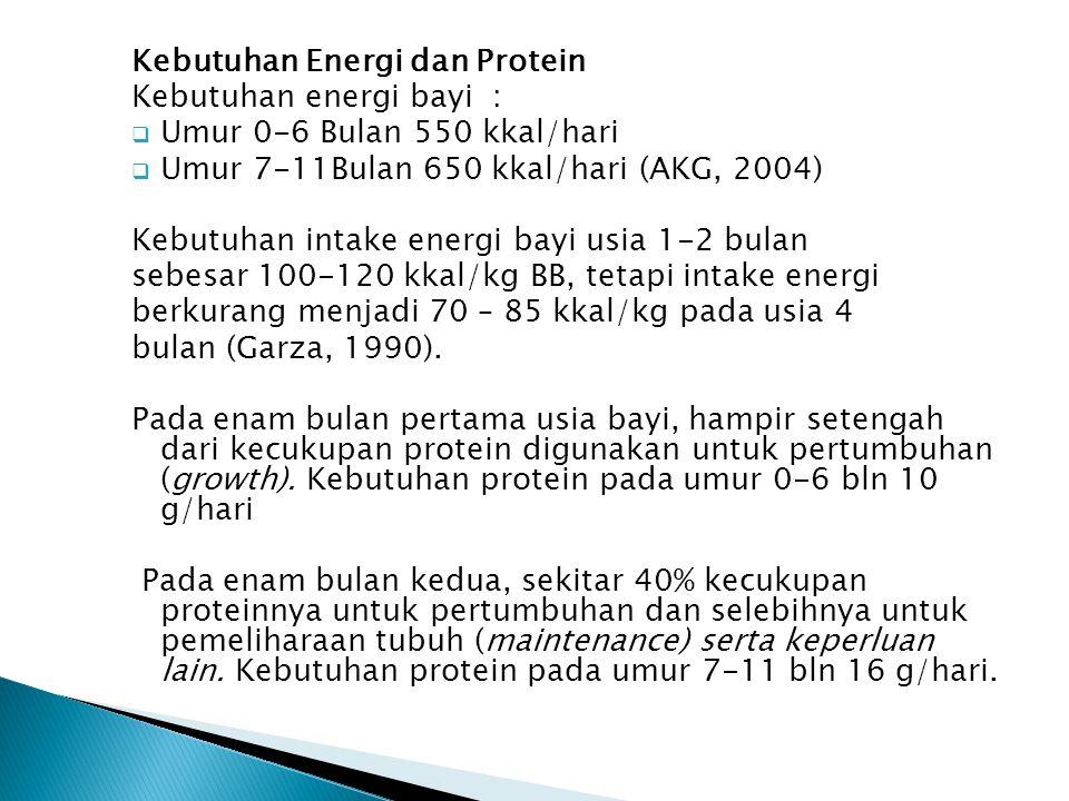 Kebutuhan Energi dan Protein