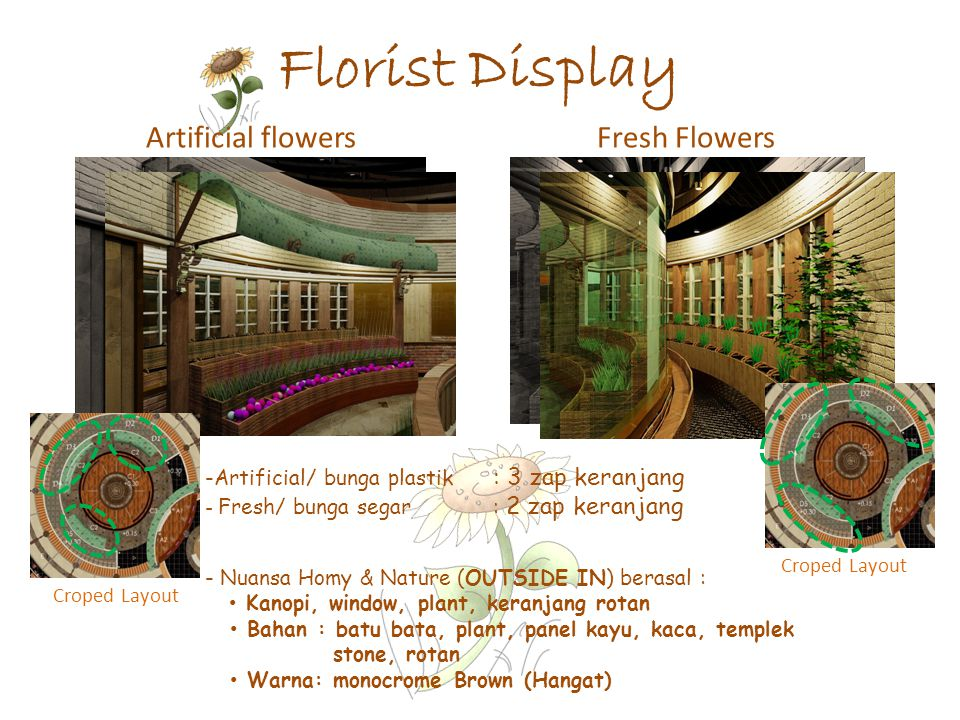 Florist Display Artificial flowers Fresh Flowers