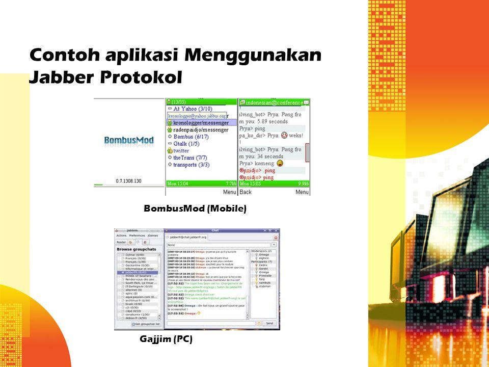 Contoh aplikasi Menggunakan Jabber Protokol