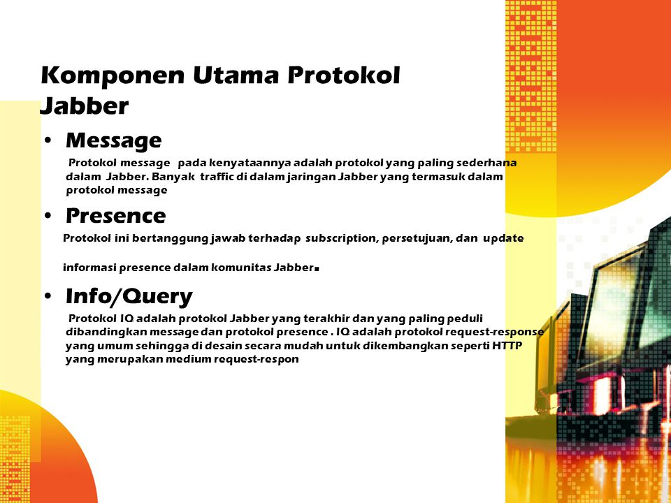 Komponen Utama Protokol Jabber