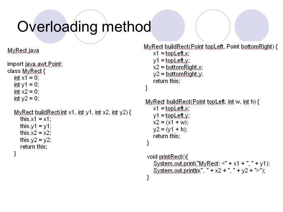 Overloading method