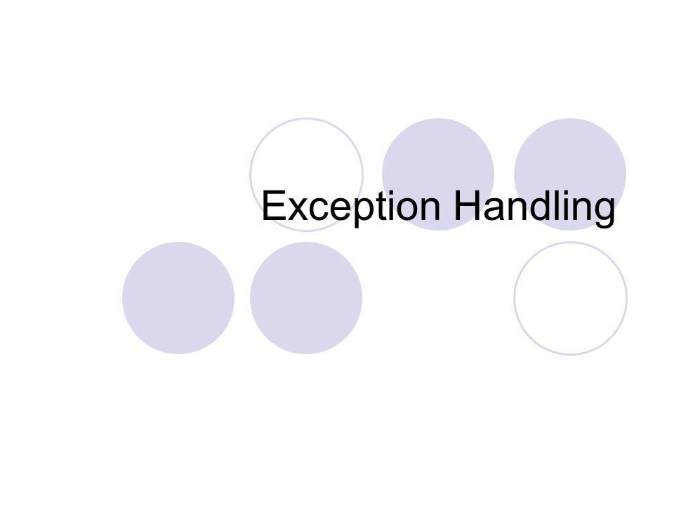 Exception Handling
