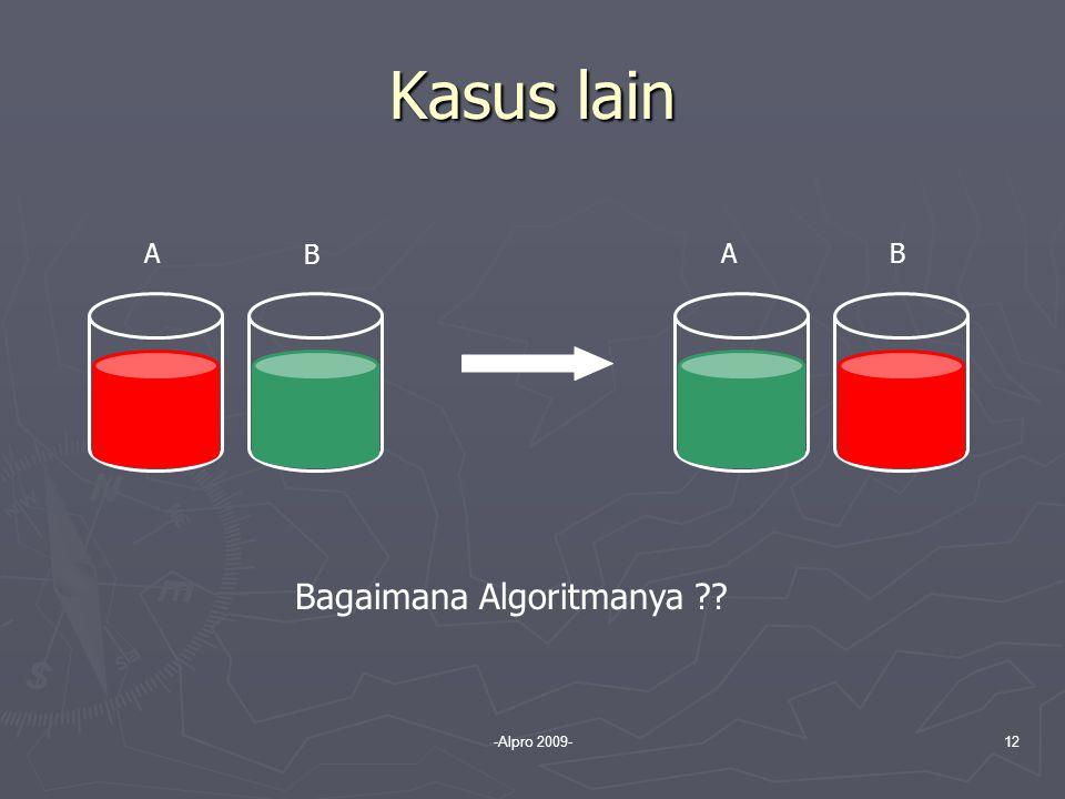 Kasus lain A B A B Bagaimana Algoritmanya -Alpro 2009-
