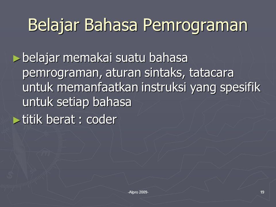 Belajar Bahasa Pemrograman