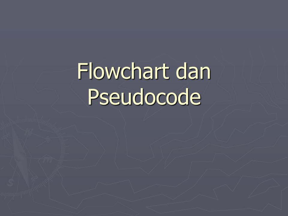 Flowchart dan Pseudocode