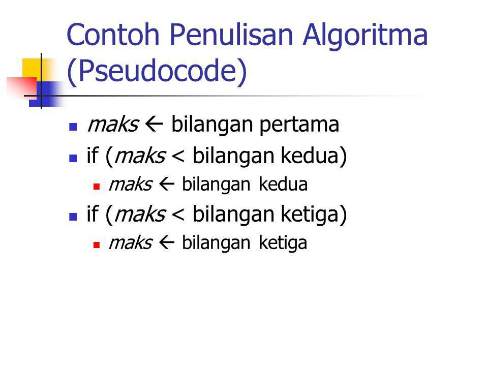 Contoh Penulisan Algoritma (Pseudocode)