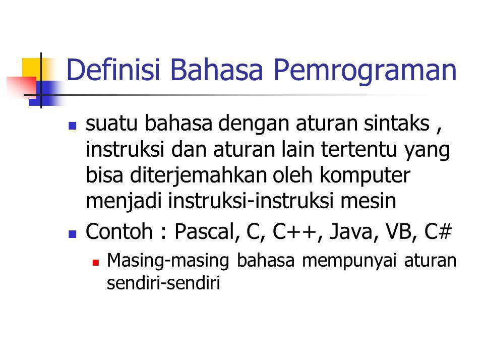 Definisi Bahasa Pemrograman