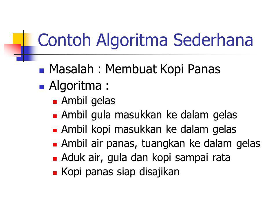 Contoh Algoritma Sederhana